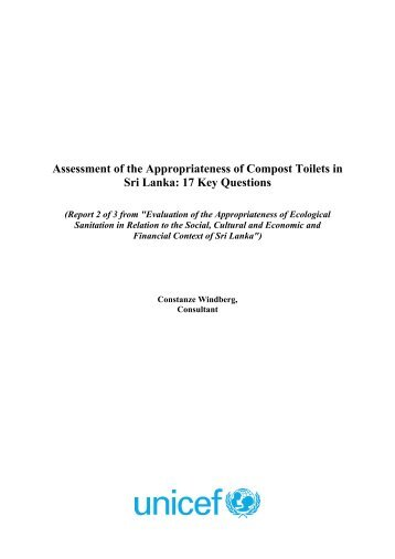 Assessment of the Appropriateness of Compost Toilets ... - EcoSanRes