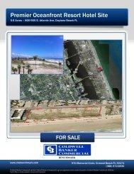 Premier Oceanfront Resort Hotel Site - Daytona Beach Hotel Property