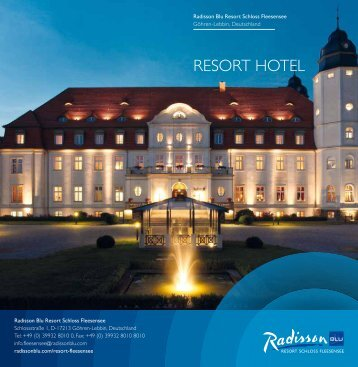 ResoRt HoteL - Radisson Blu Resort Schloss Fleesensee