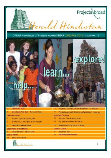 Newsletter - 2010_01 INDIA - Projects Abroad