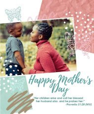 Mother's Day Bulletin Fifth Sunday of Easter May 10, 2020
