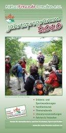 Jahresprogramm 2010 - NaturFreunde Sachsen eV