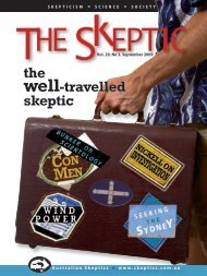 3, 2009 - Australian Skeptics