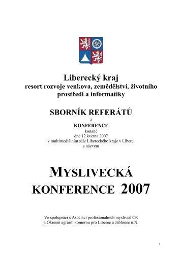 MYSLIVECKÁ KONFERENCE 2007 - Liberecký kraj
