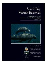 Shark Bay Marine Reserves Managment Plan - Department of ...