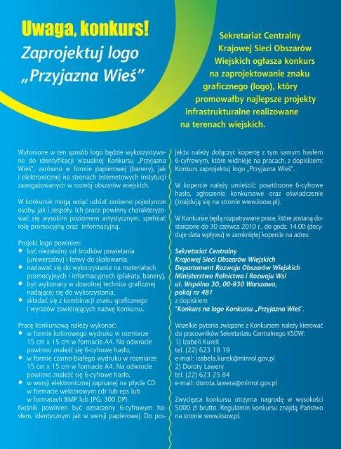 """Zaprojektuj logo """"Przyjazna Wieś"""" - KSOW"""