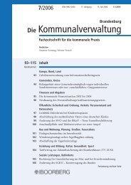 Brandenburg N O TIZEN - Richard Boorberg Verlag