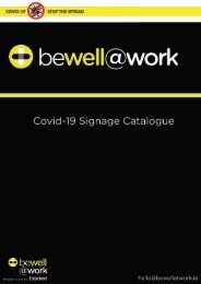 Be Well At Work Full Signage Range 2020