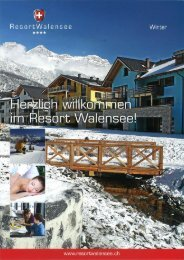 Prospekt Winter - Resort Walensee