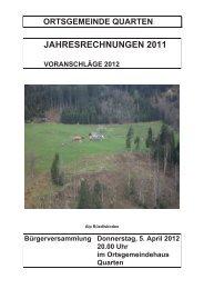JAHRESRECHNUNGEN 2011 - EW Quarten