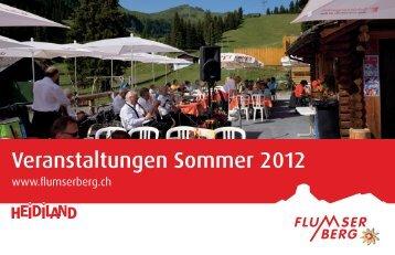 Eventkalender Sommer 2012 - Flumserberg