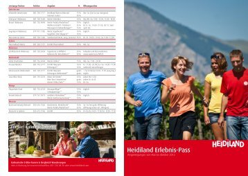 Broschüre Heidiland Erlebnis-Pass