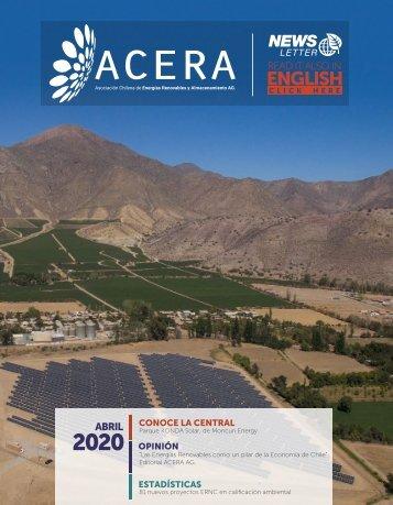 Newsletter ACERA - Abril 2020