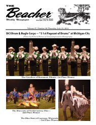 """DCI Drum & Bugle Corps -- """"51st Pageant of Drums ... - The Beacher"""