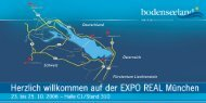Flyer zur EXPO REAL 2006 - Bodensee Standortmarketing