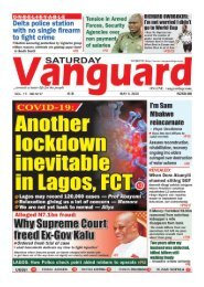 09052020 - Another Lockdown Inevitable in Lagos, FCT