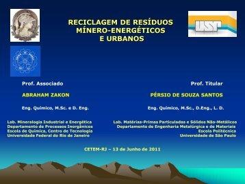 2011 AZ-PSS CETEM Reciclagem de Resíduos Mínero - ambientes ...