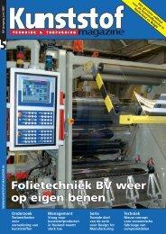 Folietechniek BV weer op eigen benen - Kunststof Magazine