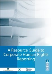 A Resource Guide to Corporate Human Rights Reporting - Global ...
