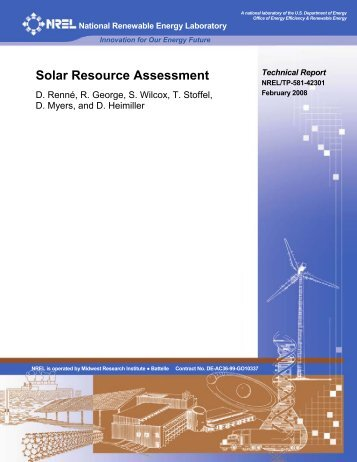 Solar Resource Assessment - NREL