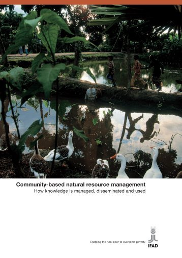 Community-based natural resource management - International ...