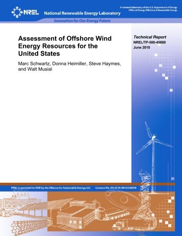 Assessment of Offshore Wind Energy Resources for the ... - NREL