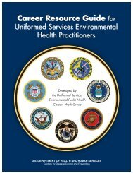 Career Resource Guide for Uniformed Services Environmental Health