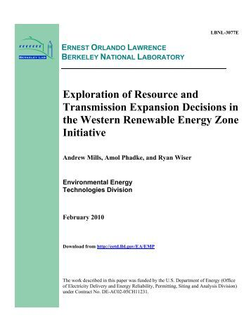 Exploration of Resource and Transmission Expansion Decisions in ...