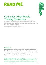 Caring for Older People Training Resources - Macmillan Cancer ...
