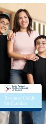 Resource Guide for Families - Lucile Packard Children's Hospital