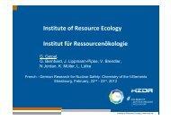 Institute of Resource Ecology Institut für Ressourcenökologie