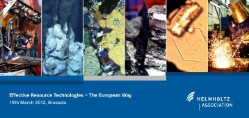 Effective Resource Technologies – The European Way