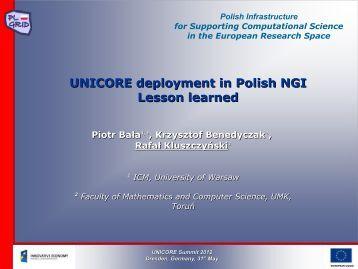 PL-Grid - Unicore