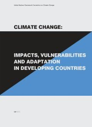 Climate Change – Impacts, Vulnerabilities and Adaption in