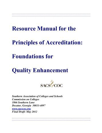 Resource Manual for the Principles of Accreditation - Southern ...