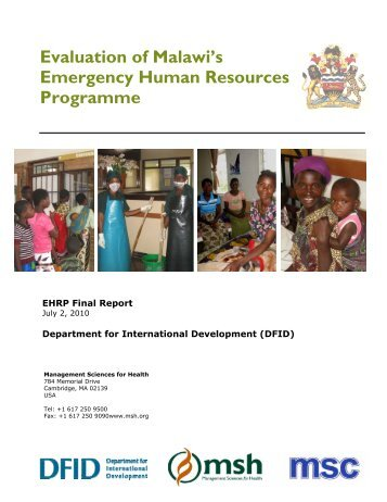 Evaluation of Malawi's Emergency Human Resources Programme