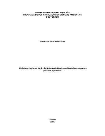 Tese Professora Silvana SGA - Área Administrativa Docente - Ucg