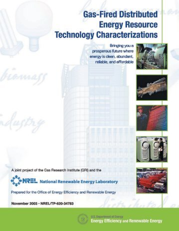 Gas-Fired Distributed Energy Resource Technology ... - NREL