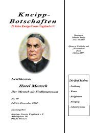 Kneipp-Botschaft Ausgabe 40
