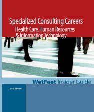 Specialized Consulting Careers - Chris Thoughts