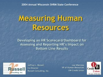 Measuring Human Resources - Russell Consulting