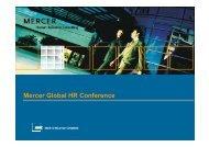 Mercer Global HR Conference