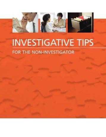 INVESTIGATIVE TIPS - BDO Consulting