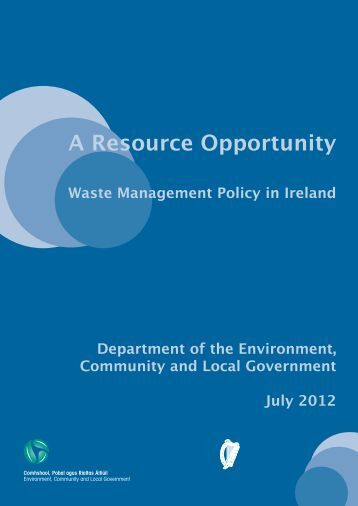 A Resource Opportunity - Department of Environment and Local ...