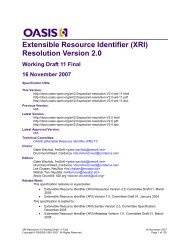 Extensible Resource Identifier (XRI) Resolution Version 2.0 - Oasis
