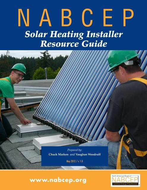 Solar Heating Installer Resource Guide - nabcep