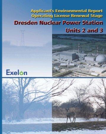 Dresden Environmental Report - Chapters 1 - 6 - NRC