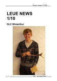 LEUE NEWS 1/10 - OLC Winterthur