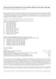 Register der Tätigkeitsberichte 1-18 (PDF, 176 kB - Kanton Zürich