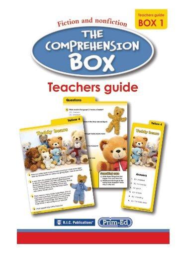The Comprehension Box Teachers Guide - Box 1